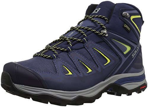 Mid Gtx Boot Backpacking (Salomon Women's Ultra 3 Wide Mid GTX W Trail Running Shoe, Crown Blue, 8.5 W US)