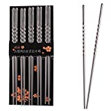 StillCool 10 Pairs Stainless Steel Chopsticks