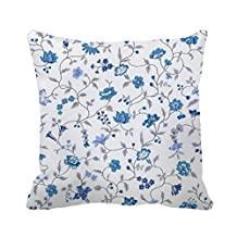 """DKISEE 18"""" x 18"""" Morning Glory Decorative Throw Pillow Case Cushion Cover"""