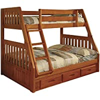 American Furniture Classics 2118-TFH Bunk Bed, Twin/Full