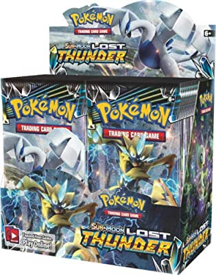 Pokémon TCG Sun & Moon Lost Thunder Booster Box + Sun & Moon Celestial Storm Booster Box Pokémon Trading Cards Game Bundle, 1 of Each.