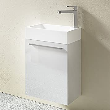 Gallery of meuble de salle de bains petite vasque avec for Amazon lavabos