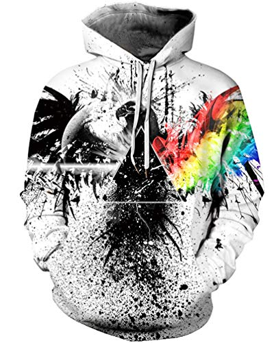 sanatty Unisex Realistic 3D Print Galaxy Pullover Hooded Sweatshirt Hoodies with Big Pockets