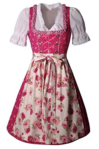Dirndl midi 60 cm Rosalie pink Rosen