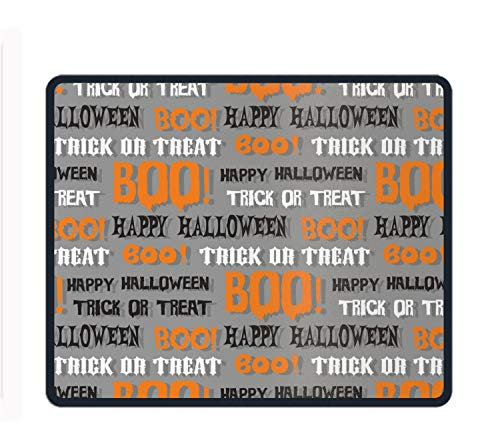 Halloween Typography Boo Mousepad Game Office Thicker Mouse Pad Decorated Mouse Mat