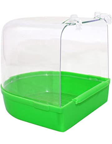 Pet Supplies 14 × 15 × 15 Cm Bird Bathtub Bath Clean Box Toy For Budgies Canary Cage Trixie