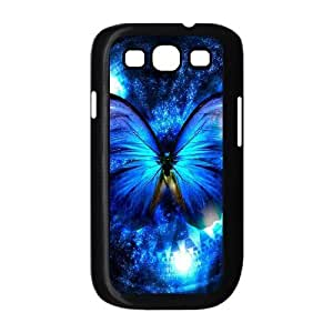 Diy Beautiful Colorful Butterfly Custom Cover Phone Case for samsung galaxy s3 Black Shell Phone [Pattern-2]