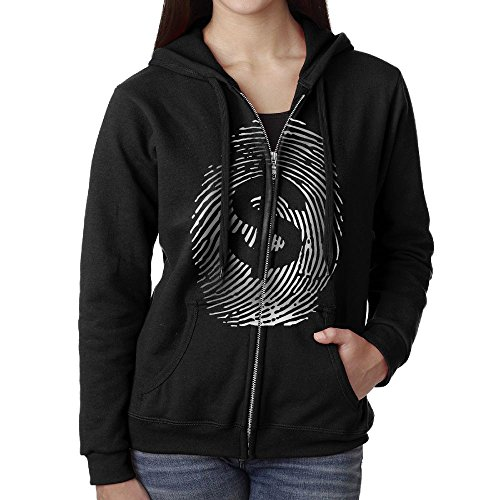 SHIRT-4 Fingerprint Dollar Sign Casual Womens,Women Full-Zip Sweatshirt Hoodie Jacket