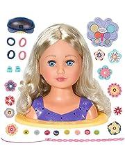 Baby born Sister Kaphoofd - Ideaal voor Kinderhandjes, Bevordert Creativiteit, Empathie & Sociale Vaardigheden, Vanaf 3 Jaar - Bevat 27 Styling- en Make-Up-Accessoires: Speldjes, Haarborstel, Enz...!