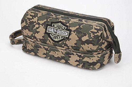 Harley Davidson Leder Toiletry Kit, schwarz (schwarz) - 99609 Camouflage