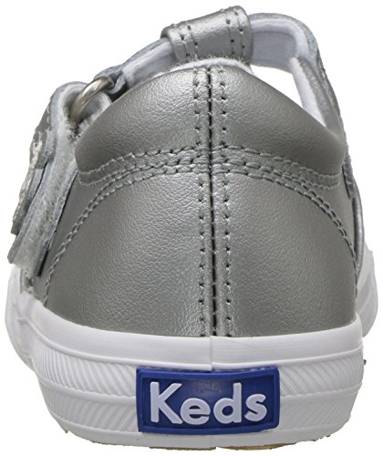 Keds Daphne T-Strap Sneaker (Toddler/Little Kid), Silver/Silver, 5.5 M US Toddler by Keds (Image #2)