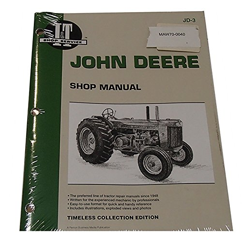 - JD-3 I&T Shop Service Manual for John Deere Model R Diesel