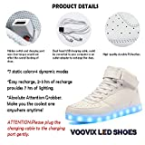Voovix Kids LED Light up Shoes USB Charging