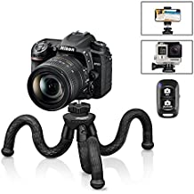 Flexible Camera Tripod, UBeesize 12 Inch Mini Tripod Stand GoPro/Action Cam/DSLR Canon Nikon Sony, Smartphone Tripod Stand with Cell Phone Holder, Compatible iPhone/Android (3 in 1) - Waterproof