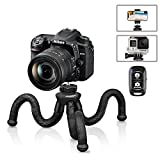 Flexible Camera Tripod, UBeesize 12 Inch Mini Tripod Stand GoPro/Action Cam/DSLR Canon Nikon Sony, Smartphone Tripod Stand with Cell Phone Holder, Compatible with iPhone/Android - Waterproof