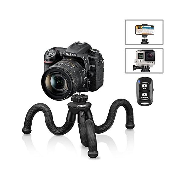 51w0NjxaEIL. SS600  - Flexible Camera Tripod, UBeesize 12 Inch Mini Tripod Stand GoPro/Action Cam/DSLR Canon Nikon Sony, Smartphone Tripod…