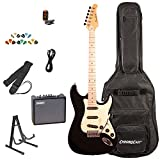 Sawtooth ST-ES-BKVC-KIT-3 Electric Guitar Pack with Vanilla Cream Pickguard