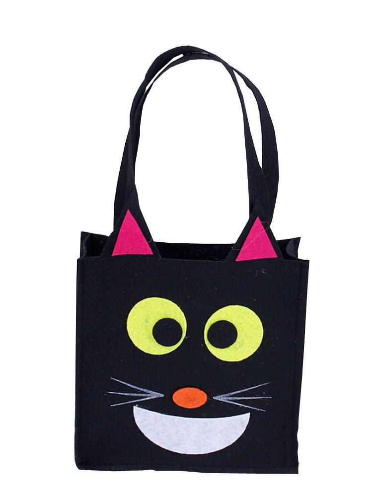 Alien Storehouse Satz von 3 Halloween Scherzt Süßigkeit-Beutel-Schwarze Katze-Süßigkeit-Tasche
