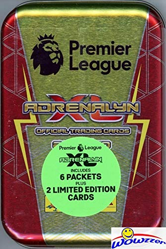 2019/20 Panini Adrenalyn XL English Premier League Soccer Awesome Collectors TIN with 38 Cards including (2) EXCLUSIVE Limited Edition Cards! Look for Cards of all the Top Stars of the Premier League