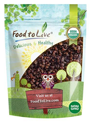 Turkish Organic Raisins, 2.5 Pounds - Sun Dried Thompson Seedless Select Sultana Grapes, Non-GMO, Raw, No Sugar added, Pesticide-Free, Kosher, Vegan, Lightly Coated with Organic Sunflower Oil