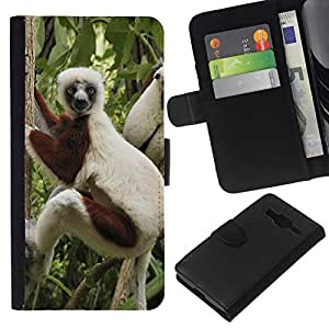 All Phone Most Case / Oferta Especial Cáscara Funda de cuero Monedero Cubierta de proteccion Caso / Wallet Case for Samsung Galaxy Core Prime // Funny Monkey
