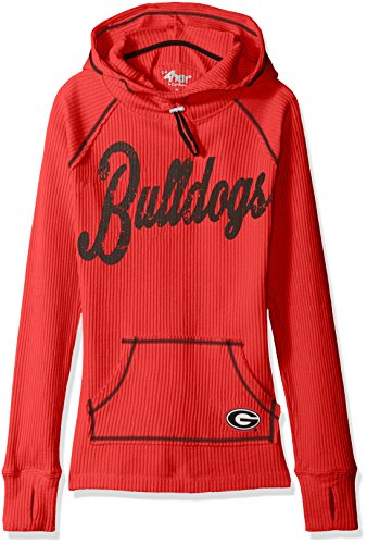 NCAA Georgia Bulldogs Women's Base Camp Adventure Hoody, Medium, (Georgia Bulldogs Ncaa Thermal)