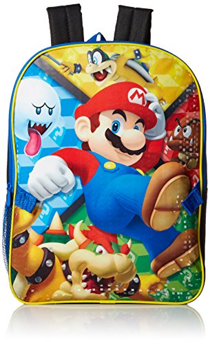 Nintendo Boys' Mario Backpack with Lunch Kit, Multi (Mario Accessory Child Kit)
