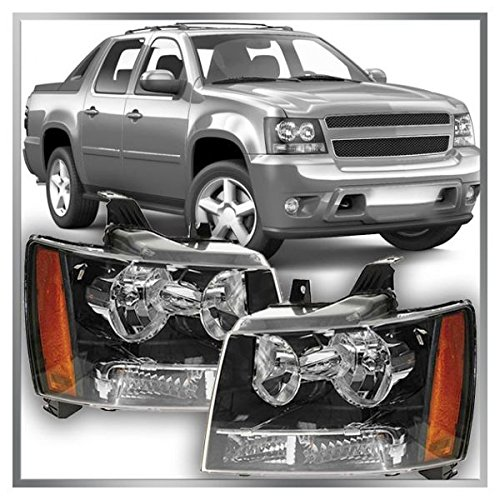 Headlights Headlamps Pair Set of 2 for 07-13 Chevy Suburban Tahoe