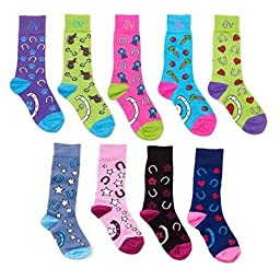 Ovation Childrens Lucky Socks - Turquoise/Pink C79