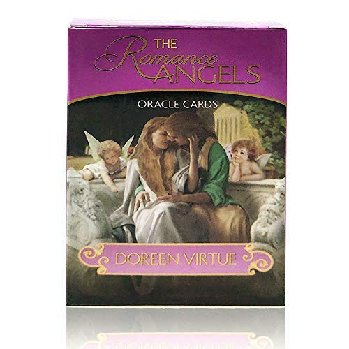 The Romance Angels Tarot Oracle Cards Deck|The 44 Romance Angel Oracle Cards By Doreen Virtue Rare Out Of Print, New Gold-plated Series, Clarity About Soul-mate Relationships, Healing From The Past from Assiduousic