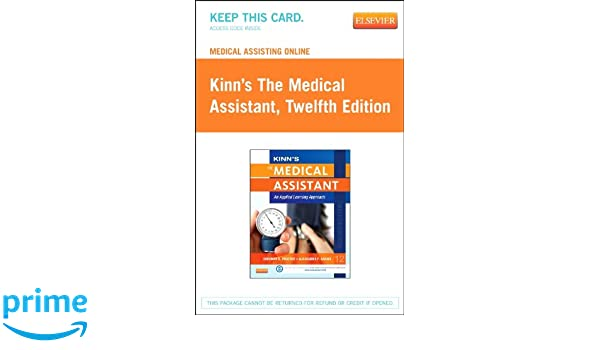 Medical assisting online for kinns the medical assistant access medical assisting online for kinns the medical assistant access code an applied learning approach 12e 9780323221115 medicine health science books fandeluxe Gallery