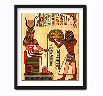Ancient Egyptian Wall Art Decor Framed Canvas Artwork Print