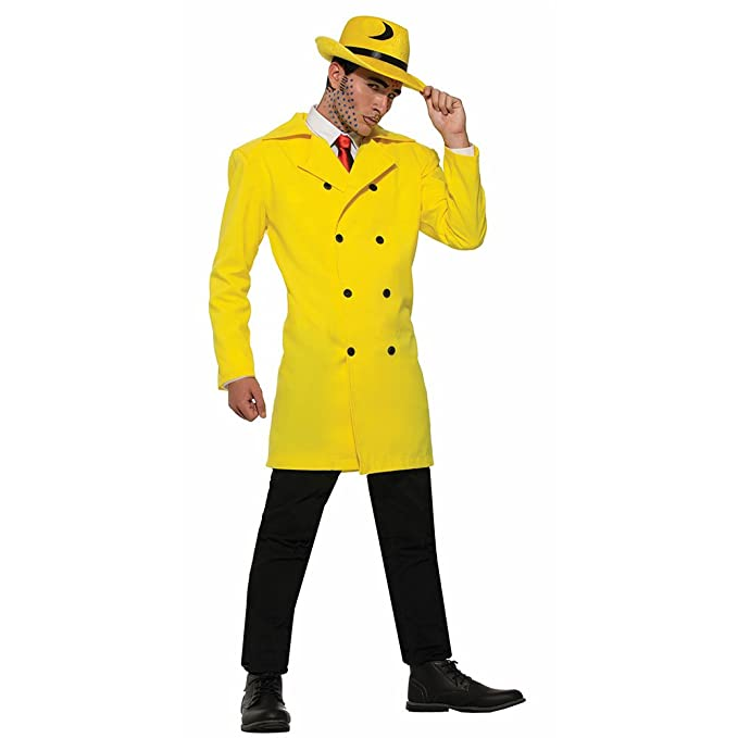 1940s Men's Costumes: WW2, Sailor, Zoot Suits, Gangsters, Detective Forum Novelties Yellow Jacket Gangster Adult Costume- $25.83 AT vintagedancer.com