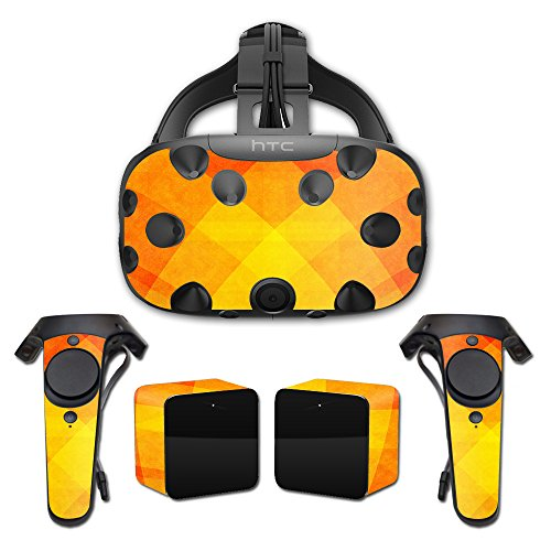 MightySkins Skin For HTC Vive Full Coverage - Orange Texture | Protective, Durable, and Unique Vinyl Decal wrap cover | Easy To Apply, Remove, and Change Styles | Made in the USA by MightySkins