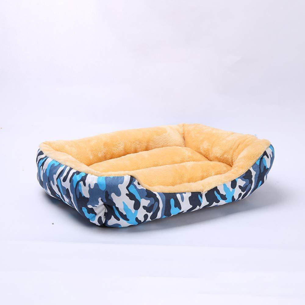 online al mejor precio 49x41x16cm WALSITK WALSITK WALSITK Camuflaje otoño e Invierno cálido Perrera extraíble y Lavable Nido para Mascotas Cama para Perros Mediana y pequeña Cama para Mascotas Azul, 49x41x16cm  bienvenido a orden