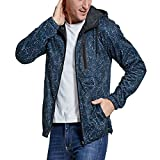 SEVENWELL Men's Outdoor Travel Full Zip Hoodie Jacket Athletic Multi-Pockets