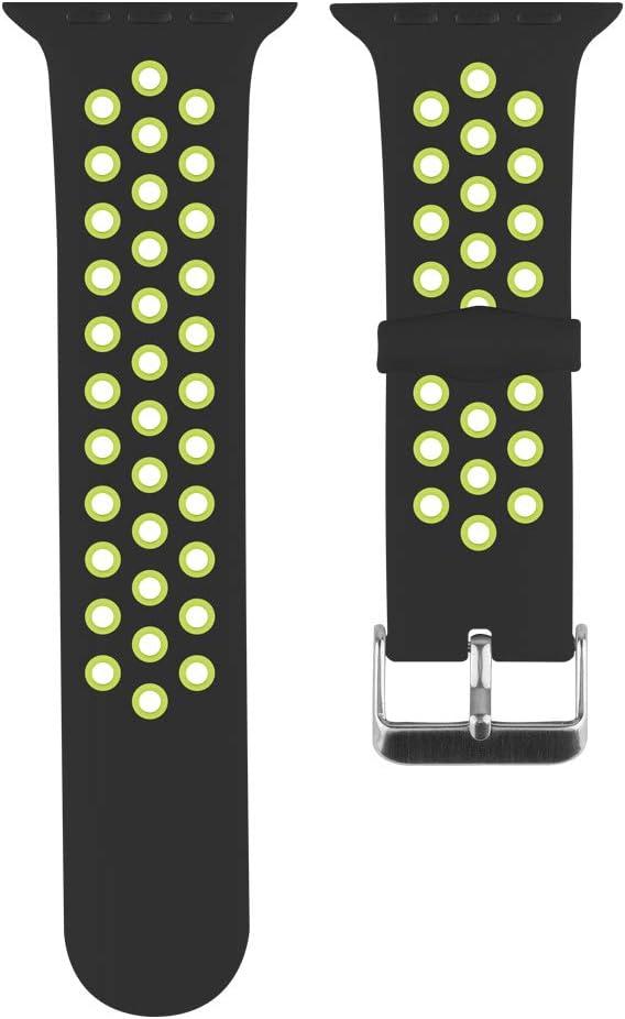 ANBEY Bracelet en Silicone Bracelet de Remplacement de Montre 38mm 40mm 42mm 44mm Compatible avec S/érie 4//3//2//1