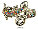 Alilang Multi-Colored Crystal Rhinestone Lizard Gecko Salamander Bracelet Bangle Cuff