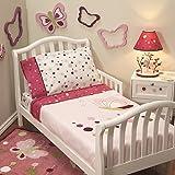 Lambs & Ivy® Raspberry Swirl 4-Piece Toddler Set