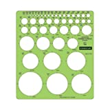 Wholesale CASE of 20 - Staedtler Combo Circle Template-Combo Circle Template, 45 Circles, Assorted Size, Green
