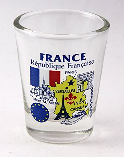 France EU Series Landmarks and Icons Shot Glass (Best Souvenirs From France)