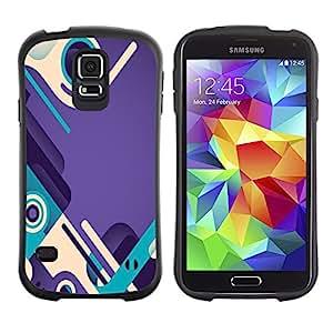 Suave TPU GEL Carcasa Funda Silicona Blando Estuche Caso de protección (para) Samsung Galaxy S5 / CECELL Phone case / / purple teal abstract design shoes loop /