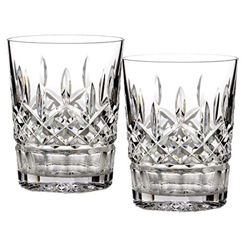 Waterford Crystal Lismore Double Old Fashion Pair