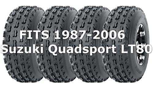 Full Set WANDA Sport ATV tires 19x7-8 19x7x8 fit for 1987-2006 Suzuki Quadsport LT80