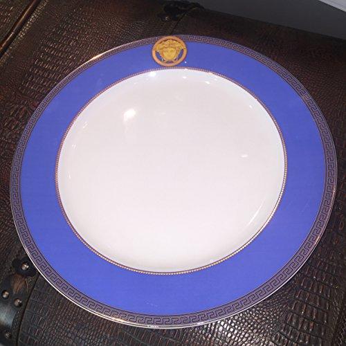 Versace Ikarus Tresors Service Plate Blue 30 cm Model - Model For Versace