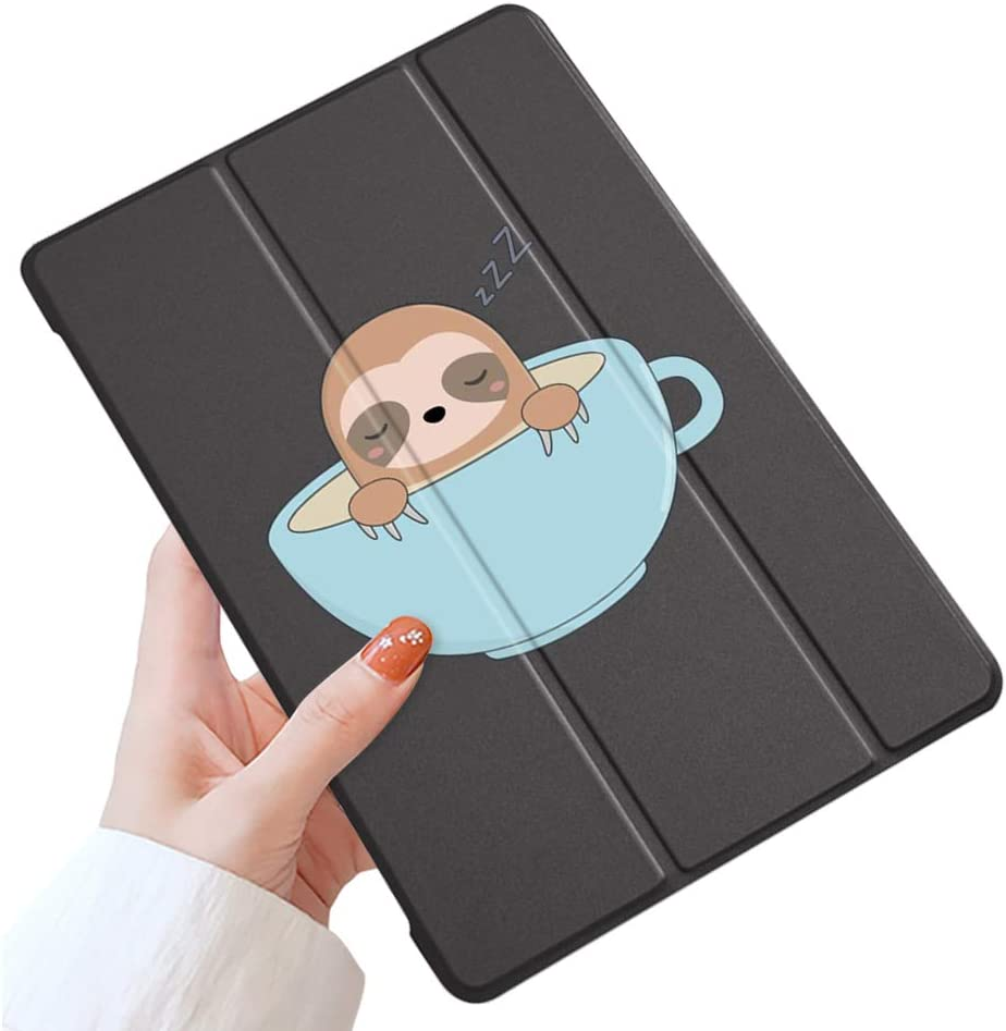 LuGeKe Sloth Case for iPad 7.9 inch 2019 iPad Mini 5,Sleepy Sloth Patterned iPad Case Cover,Lightweight Slim Standing iPad Cover for Girls Boys,Cute Sloth