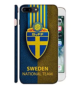 ColorKing Football Sweden 09 Multicolor shell case cover for Apple iphone 7 Plus