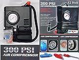 Air Compressor 12V volt 300 PSI Portable Pump Auto Car SUV Tire + 3 adapters Review