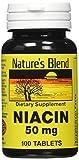 Cheap Nature's Blend Niacin 50 Milligram 100 Tabs