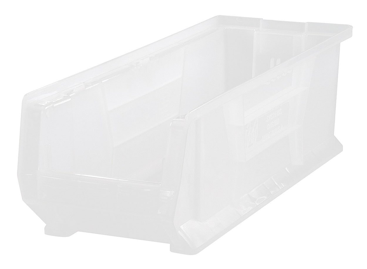 Quantum Polypropylene Clear View Hulk 24'' Containers 23 7/8'' X 8 1/4'' X 9'' - 6 Pack